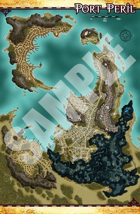 Pathfinder Campaign Setting: Skull U0026 Shackles Poster Map Folio