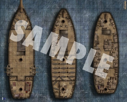 Paizo Com Gamemastery Flip Mat Pirate Ship