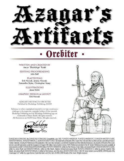 Paizo Azagars Artifacts Orcbiter 4e Pdf