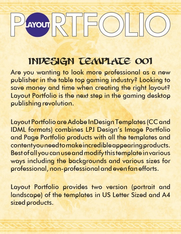 paizo.com - Layout Portfolio InDesign Template 001 PDF
