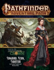 Songbird, Scion, Saboteur: War for the Crown 2 of 6: Pathfinder Adventure Path 128 -  Paizo Publishing