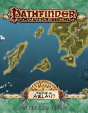 Ruins of Azlant Poster Map Folio: Pathfinder Campaign Setting -  Paizo Publishing