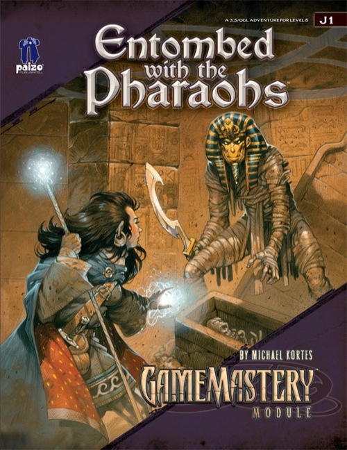 Cover of Entombed with the Pharaohs