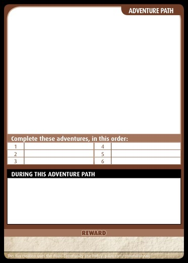 PaizoCom  Community Use Package Pathfinder Adventure Card Game