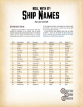 Roll With It! Ship Names PDF