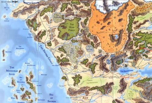 Paizo forgotten realms poster map upper left quadrant forgotten realms poster map upper left quadrant gumiabroncs Image collections