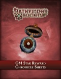 Pathfinder Society: GM Star Reward Chronicle Sheets PDF