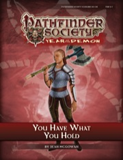 Pathfinder Society Scenario #5–06: You Have What You Hold (PFRPG) PDF