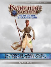 Pathfinder Society Scenario #8-08—Tyranny of Winds, Part 1: The Sandstorm Prophecy (PFRPG) PDF