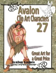 Avalon Clip Art Characters #27: Barbarian PDF