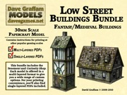 Low Street Buildings Bundle 28mm/30mm Paper Models PDF