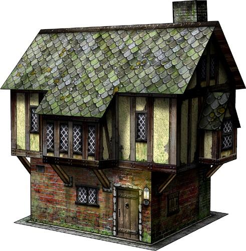 Tudor House 28mm/30mm Paper Model PDF