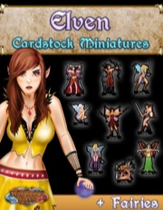Cardstock Miniatures: Elven + Fairies PDF