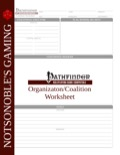 Organization Worksheet (PFRPG) PDF