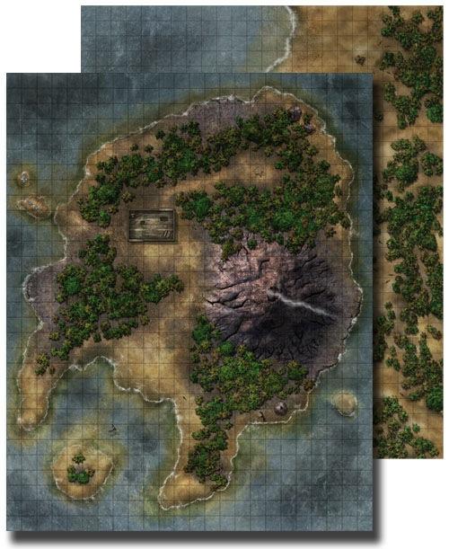 Paizo Com Gamemastery Flip Mat Pirate Island