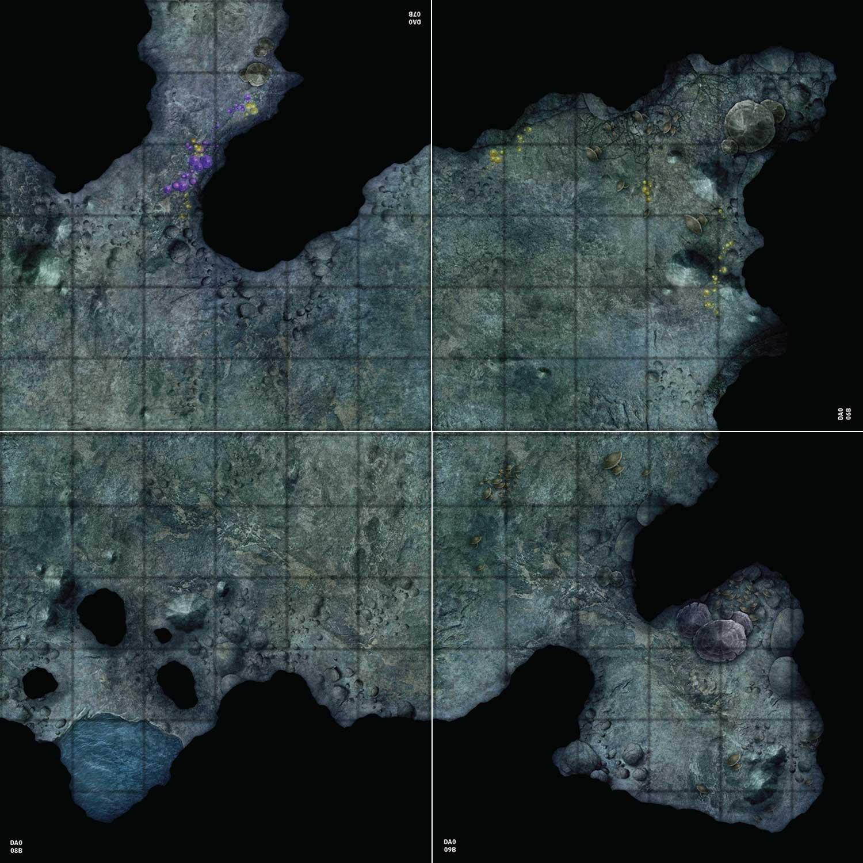 Map constructed using four flip-tile from the Pathfinder Flip-Tiles: Darklands Starter Set