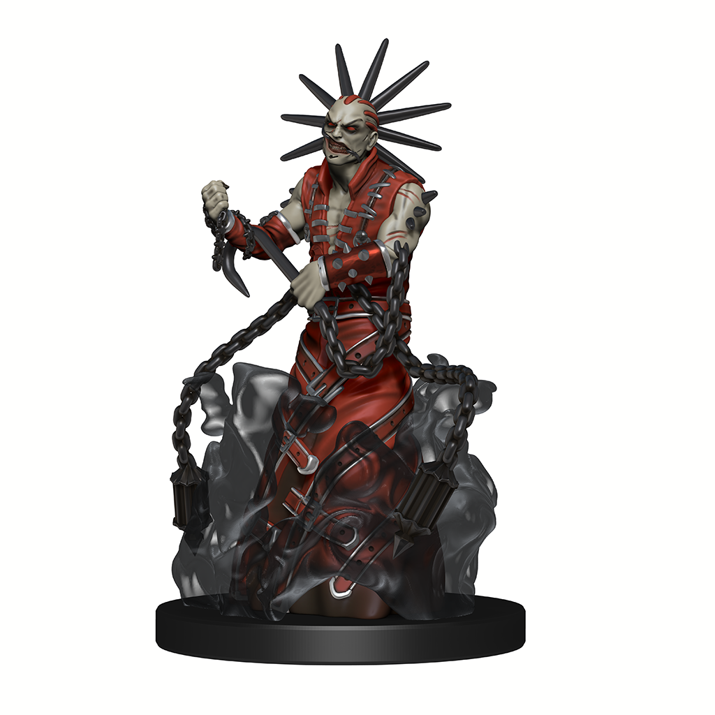 Zon-Kuthon the Midnight Lord: mini figure of a grey man in red robes holding a large chain