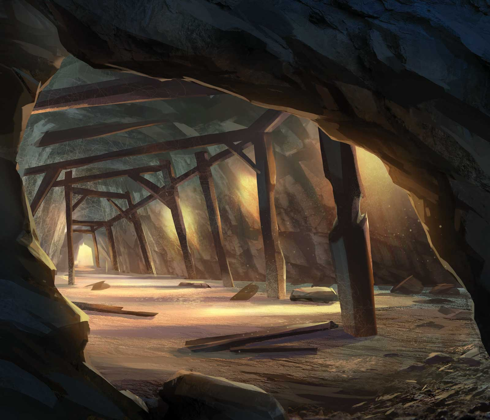 a dilapidated mine tunnel: Illustration by Jay Epperson