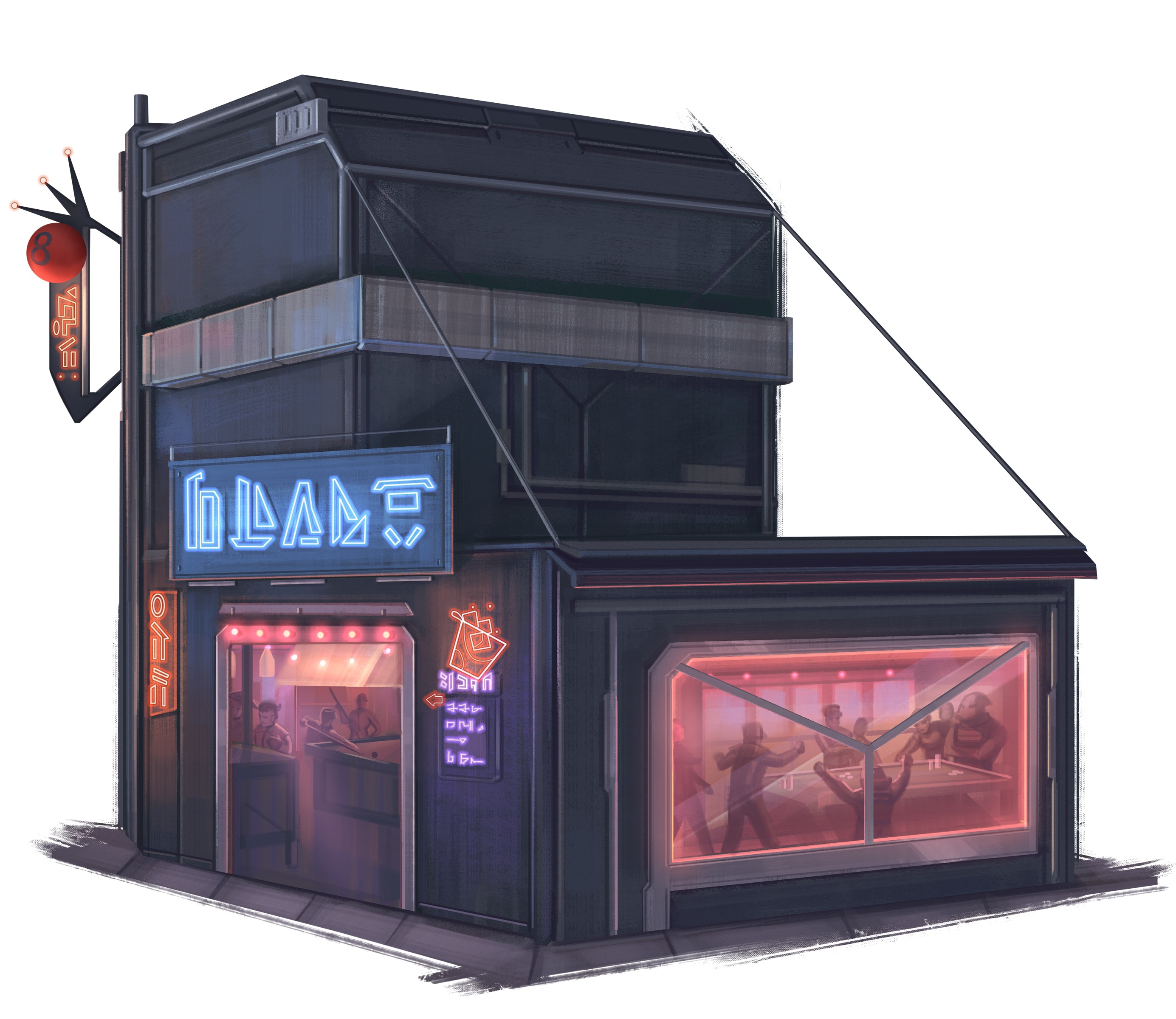 a bar Starfinder agents use as a hangout