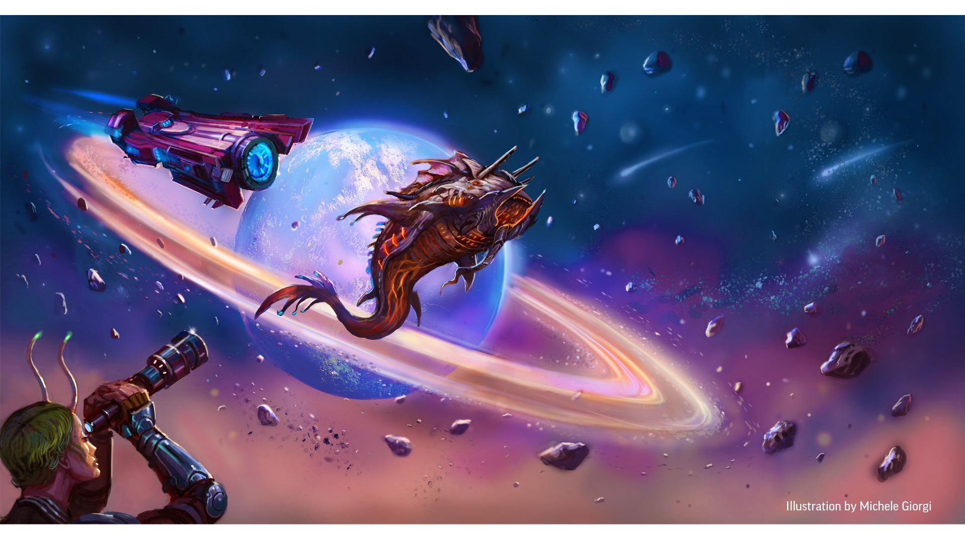 Starfinder Society: Year of Exploration's Edge, half page art