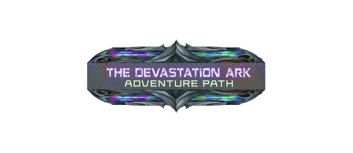 The Devistation Ark Adventure Path Title Treatment