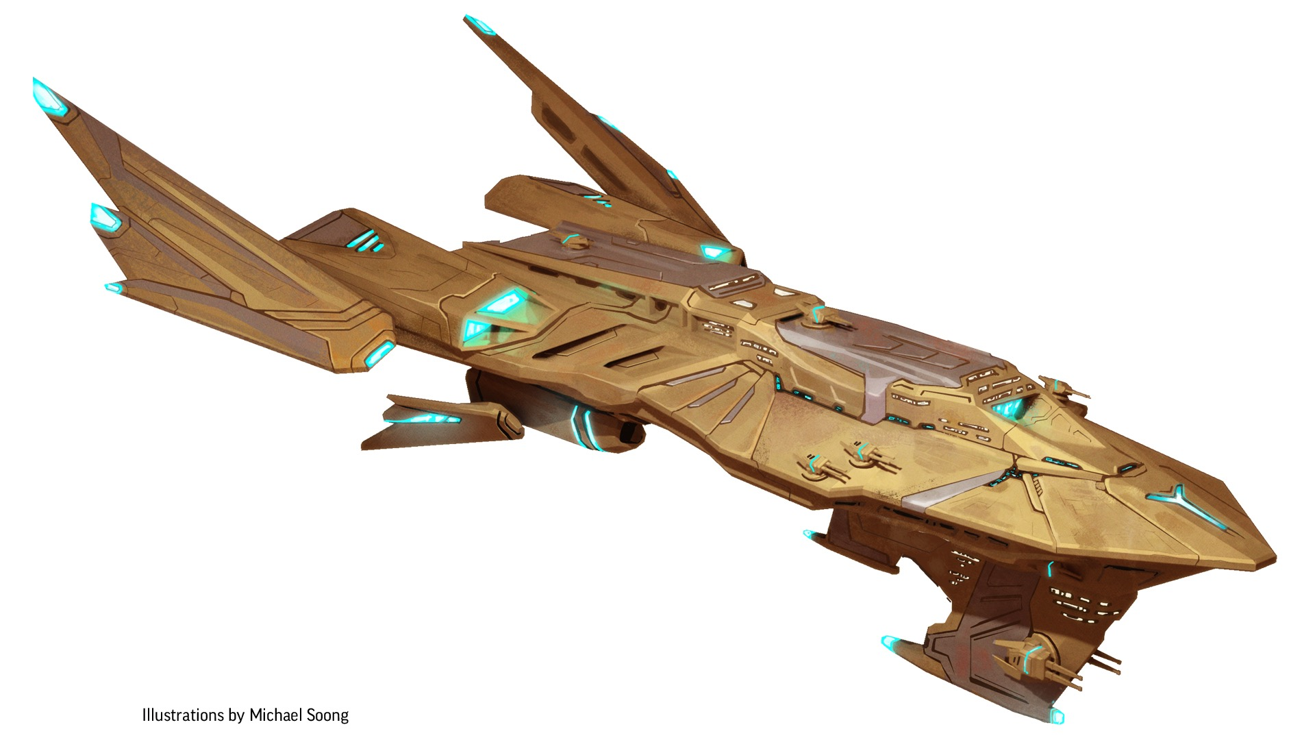 Starship illustrations by Michael Soong