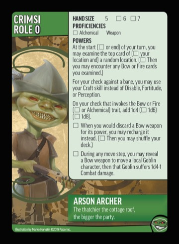 Arson Archer. The thatchier the cottage roof, the bigger the party.