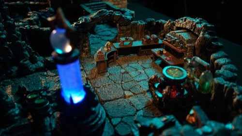 A closeup photograph of Dwarven Forge's new terrain created for the Fall of Plaguestone adventure.