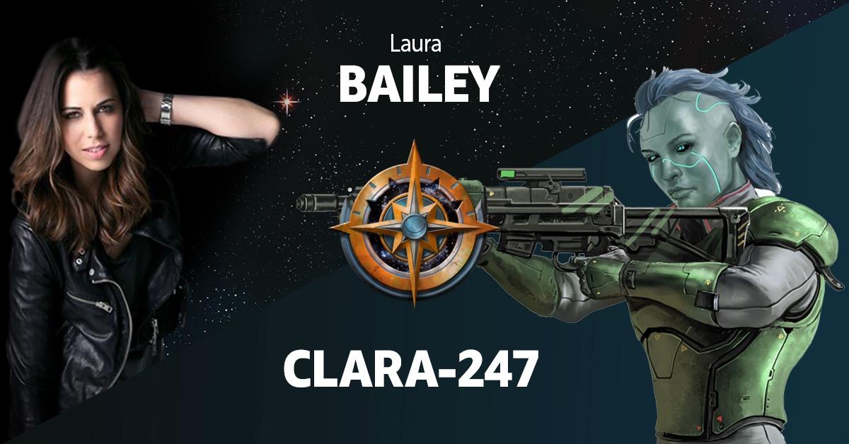 Amazon Alexa Starfinder Promo Image announcing Laura Bailey as the voice of Clara-247