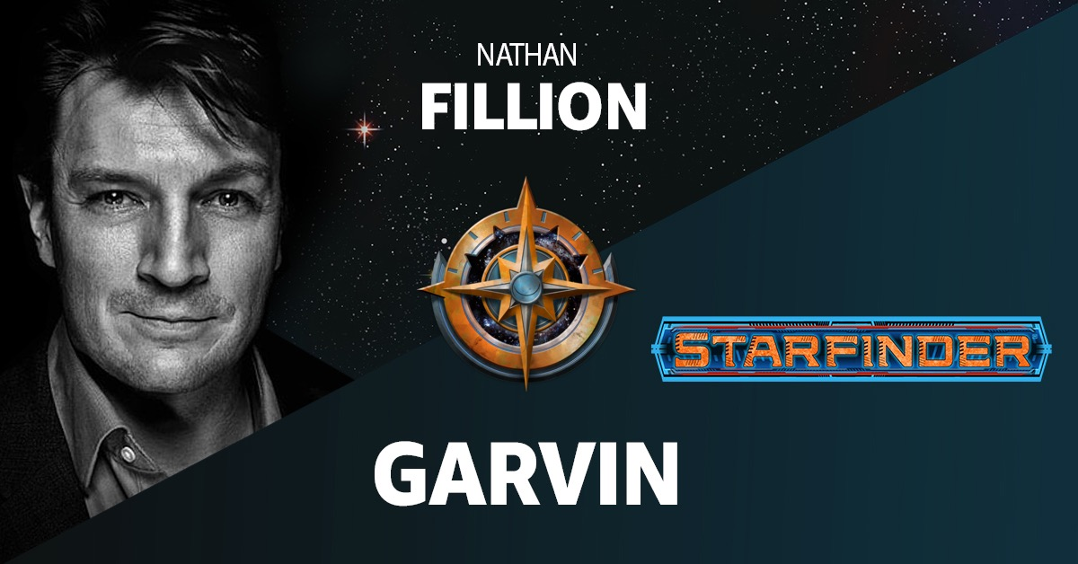 Amazon Alexa Starfinder Promo Image announcing Nathan Fillion as the voice of Garvin