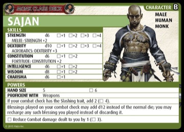 Monk Class Deck: Sajan, Character B, Male Human Monk.