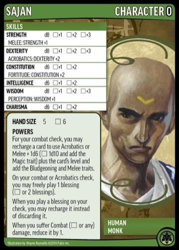Sajan, Character 0, Human Monk.