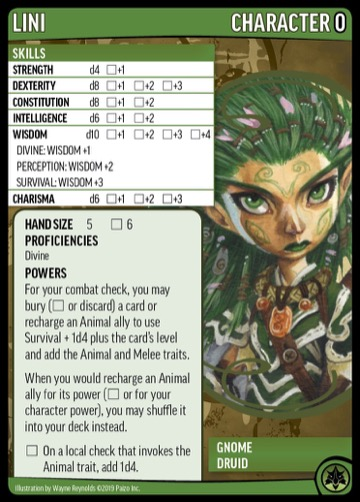 Lini, Character 0, Gnome Druid.