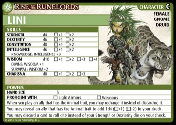 Rise of the Runelords: Lini, Character C, Female Gnome Druid.