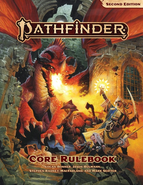 Pathfinder Second Edition Core Rulebook.