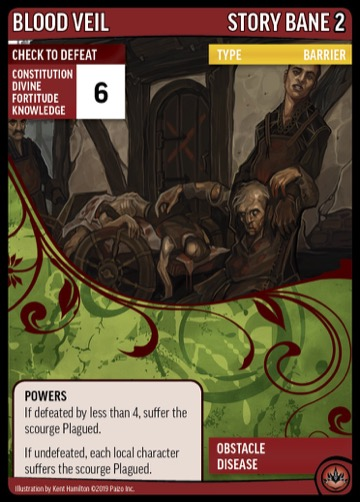 Blood Veil story bane Powers card for the Pathfinder Adventure Card Game.