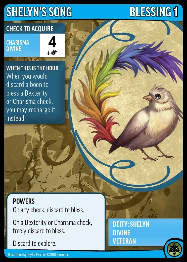 Front face of the Varian character card showing skills for the Pathfinder Adventure Card Game.