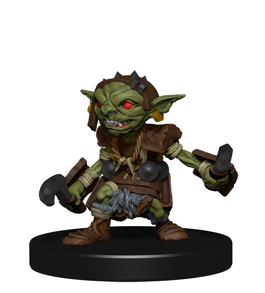 A goblin with weapons in each hand, ready to slash any ankles that make themselves available.