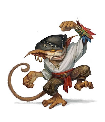 A monkey pirate goblin!