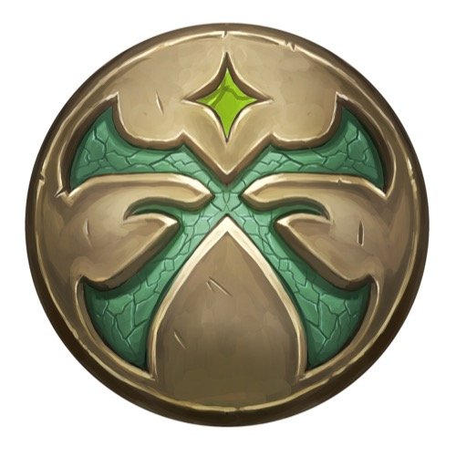 The icon of the Pathfinder Society, a green crossroads engraved on a bronze background.