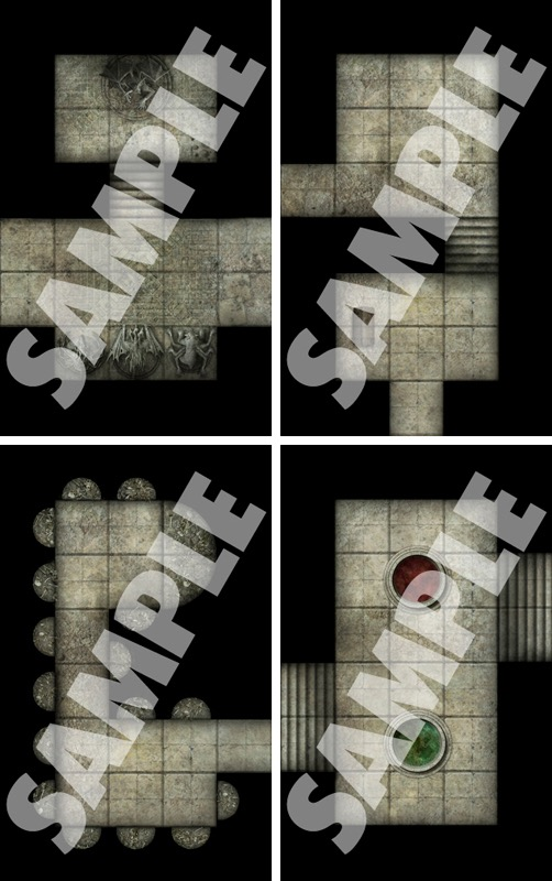 PZO4067 Paizo Publishing Pathfinder RPG Map Pack Secret Rooms