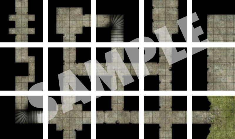 graphic about Printable Dungeon Tiles Pdf referred to as Pathfinder Switch-Tiles: Dungeon Beginner Mounted