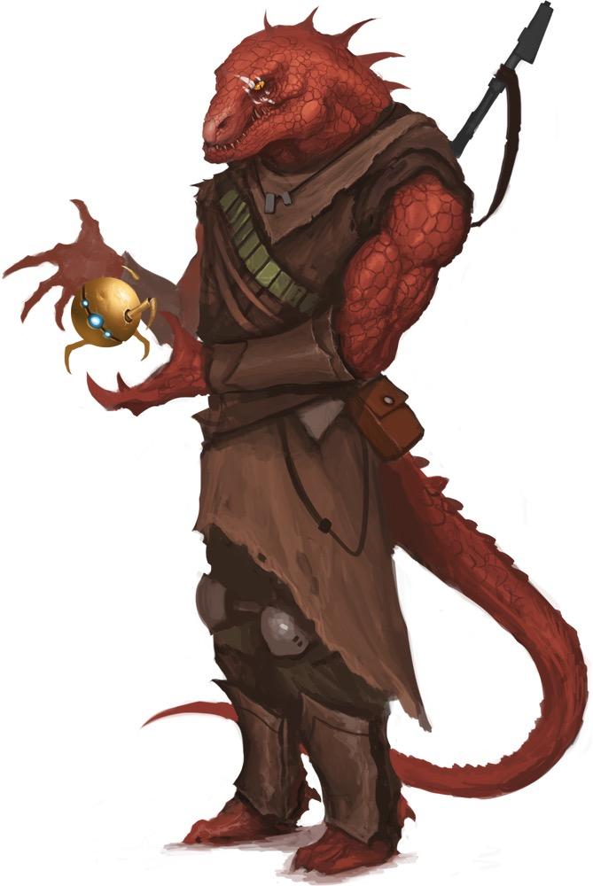 Fantasy Art Lizardfolk Druid