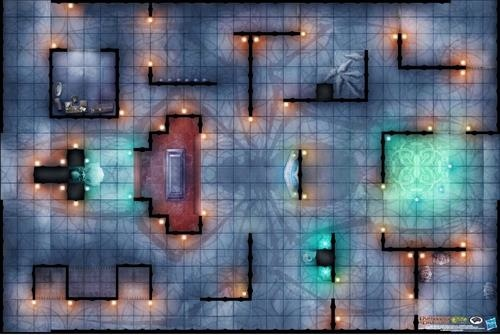 Paizo Com Dungeons Amp Dragons Game Mat Temple Of Lolth