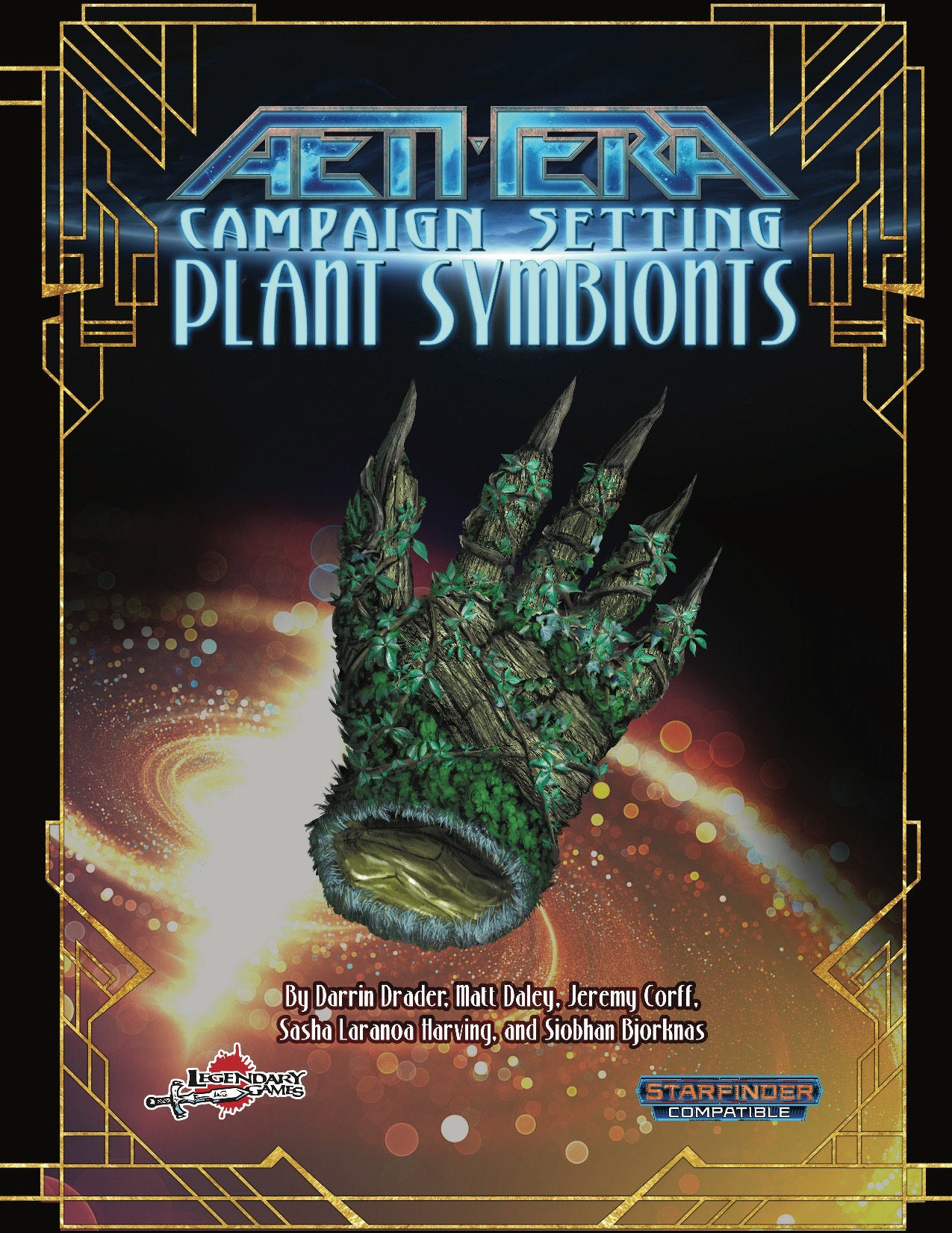 Plant Symbionts PDF: cover faetured a floating hand made of plant matter