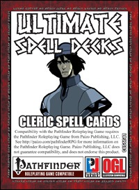photograph about Pathfinder Printable Spell List identify Supreme Spell Decks: Cleric Spell Playing cards (PFRPG) PDF