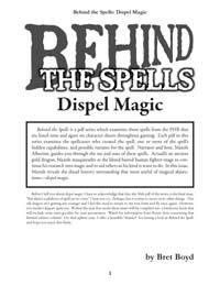 Behind the Spells: Dispel Magic (OGL) PDF