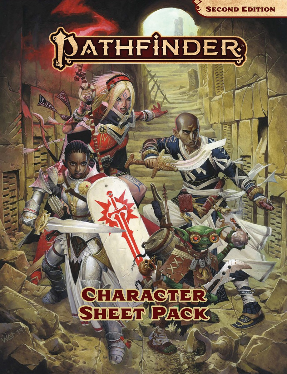 photo regarding Pathfinder Character Sheets Printable titled Pathfinder Individuality Sheet Pack