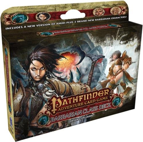 Paizo Com Pathfinder Adventure Card Game Barbarian Class Deck