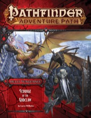 Cover of Pathfinder Adventure Path #107: Scourge of the Godclaw (Hell's Vengeance 5 of 6)